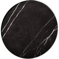 American Metalcraft MB14 14 inch x 1 1/8 inch Round Melamine Serving Board / Charger - Faux Black Marble