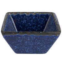 American Metalcraft PSBU3 3 oz. Blue Artisanal Porcelain Square Sauce Cup