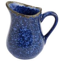 American Metalcraft PBBU4 4 oz. Blue Artisanal Porcelain Bell Creamer