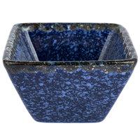 American Metalcraft PSBU1 1.5 oz. Blue Artisanal Porcelain Square Sauce Cup