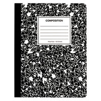 Universal UNV20957 7 1/2 inch x 9 3/4 inch Black Quadrille Ruled Composition Book   - 6/Pack