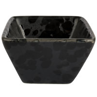 American Metalcraft PSBL1 1.5 oz. Black Artisanal Porcelain Square Sauce Cup