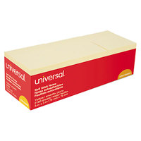 Universal UNV35693 3 inch x 3 inch Yellow 90-Sheet Self-Stick Note Pad   - 24/Pack