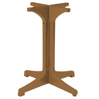 Grosfillex 55631808 Alpha Teakwood Small Resin Pedestal Table Base