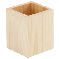American Metalcraft WCN4 3 7/8 inch x 3 7/8 inch x 4 3/4 inch Natural Wood Caddy