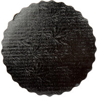 Enjay SW-9RSBEMB 9 inch Black Laminated Corrugated Cake Circle   - 200/Case