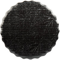 Enjay SW-8RSBEMB 8 inch Black Laminated Corrugated Cake Circle   - 200/Case