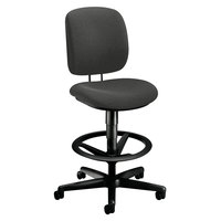 Hon 5905CU19T ComforTask Iron Ore Task Stool with Adjustable Footring and Casters