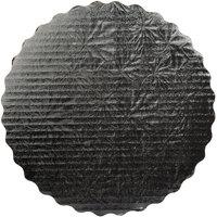 Enjay 12 inch Black Laminated Corrugated Cake Circle - 100/Case