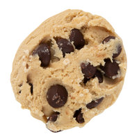 David's Cookies 1.33 oz. Preformed Chocolate Chip Cookie Dough - 20 lb.