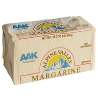 1 lb. Trans Fat Free Solid Margarine - 30/Case