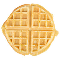 Krusteaz Chef Supreme 7 inch Round Belgian Waffles   - 36/Case
