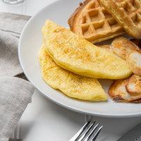 6 inch Fully-Cooked Plain Egg Omelette - 84/Case
