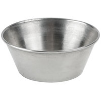 Choice 1.5 oz. Stainless Steel Round Sauce Cup - 144/Case