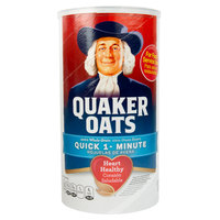 Quaker 42 oz. Quick Regular Oats - 12/Case