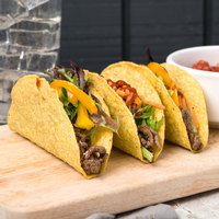 Mission 25 Pack 5 inch Regular Yellow Hard Taco Shell - 8/Case