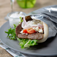 Grecian Delight 1.25 oz. IQF Sliced Beef Gyro Meat - 10 lb.