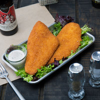 4 oz. Golden-Fried Precooked Breaded Wild Caught Flounder Fish Portions - 10 lb.