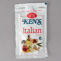 Ken's Foods 1.5 oz. Lite Italian Dressing Packet - 60/Case