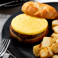 3 1/2 inch Fully-Cooked Round Scrambled Egg Patty - 153/Case