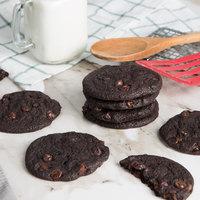 David's Cookies 1.5 oz. Preformed Double Chocolate Chip Cookie Dough - 20 lb.