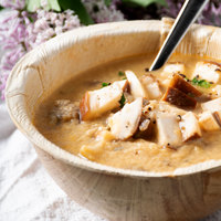 Heinz Truesoups Frozen Mushroom and Brie Bisque 4 lb. Bag - 4/Case
