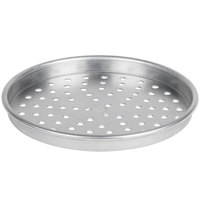 American Metalcraft PHA5110 5100 Series 10 inch Perforated Heavy Weight Aluminum Straight Sided Self-Stacking Pizza Pan