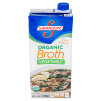 Swanson 32 oz. Organic Vegetable Broth - 12/Case