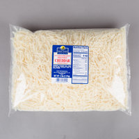 Great Lakes Cheese 5 lb. Bag Shredded Mild White Natural Cheddar Cheese