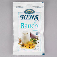 Ken's Foods 1.5 oz. Ranch Dressing Packet - 60/Case