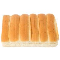 European Bakers 12-Pack 6 inch New England Hotdog Bun - 8/Case