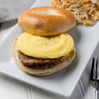 4 inch Fully-Cooked Round Scrambled Egg Patty - 120/Case