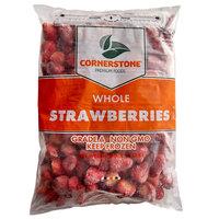 IQF Bag Frozen Whole Strawberries 5 lb. - 2/Case