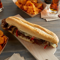Amoroso's 12 inch Philadelphia Hearth-Baked Sliced Hoagie Rolls - 60/Case