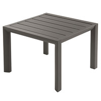 Grosfillex US040599 Sunset 20 inch Square Fusion Bronze Low Outdoor Table