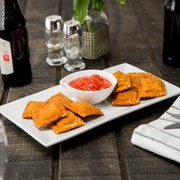 Bernardi Rotanelli's 3.75 lb. Bag Square Breaded Cheese Ravioli - 2/Case