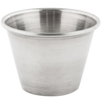 2.5 oz. Stainless Steel Round Sauce Cup - 144/Case
