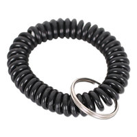 Universal UNV56050 Black Plastic Wrist Coil with Key Ring   - 6/Pack