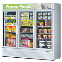 Turbo Air TGF-72SD White Super Deluxe Three Door Merchandiser Freezer - 71.3 Cu. Ft.