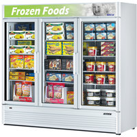 Turbo Air TGF-72SD White 78 inch Super Deluxe Glass Door Merchandising Freezer