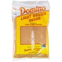 Domino 2 lb. Light Brown Sugar - 12/Case
