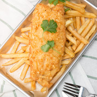 FPI Potato Crunch Breaded Tilapia 5-6 oz. Fillets - 10 lb.