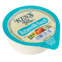 Ken's Foods 2 oz. Buttermilk Ranch Dressing Cup   - 72/Case