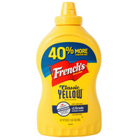 French's 20 oz. Classic Yellow Mustard Squeeze Bottle - 12/Case