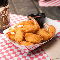 Mrs. Friday's 3 lb. Bag 16-20 Count Homestyle Hand Breaded Deep Cut Tail On Shrimp - 4/Case