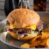 Farmland Foods Gold Medal 6 oz. Black Angus Burgers - 27/Case