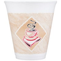 Dart 12X16G 12 oz. Squat Espresso Customizable Foam Cup - 1000/Case