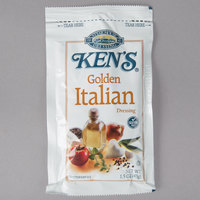 Ken's Foods 1.5 oz. Golden Italian Dressing Packet - 60/Case