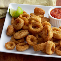 Singleton Seafood 5 lb. Bag of Breaded Calamari Rings - 2/Case