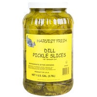 Harvest Fresh 1 Gallon Smooth Cut 1/8 inch Dill Pickle Slices - 4/Case